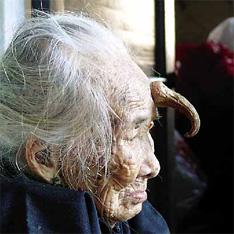 Рогатая бабушка.