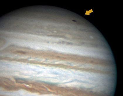 На Юпитере обнаружена тёмная аномалия