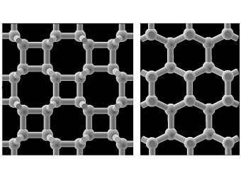 Ученые узнали структуру сверхтвердого графита, который образуется при очень высоком давлении
