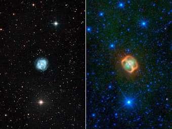 Астрономы обнаружили у планетарной туманности NGC 1514, два пылевых кольца.
