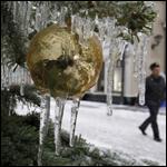 Очередные аномалии погоды - ледяной дождь