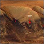 На снимках Марса увидели дьявола!