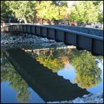 В Мадриде появился самый длинный мост, изготовленный из углепластика