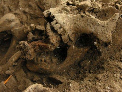 В Италии нашли скелет прибитый к земле гвоздями