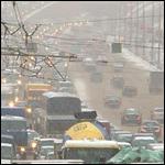 В Москве гроза и снегопад были одновременно