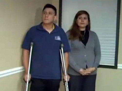 Распятие спало жену и забрало ногу мужа