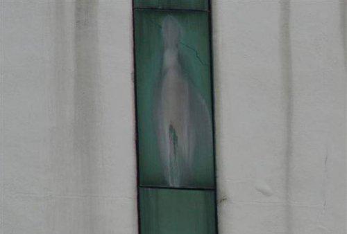 На стене больницы появился лик Девы Марии