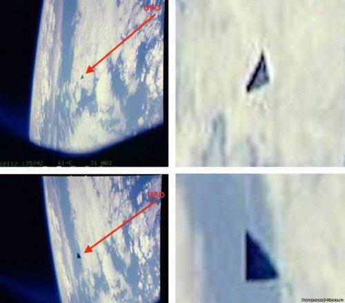 НЛО возле МКС