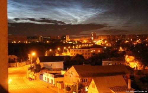 Аномальное небо над городами Челябинской области