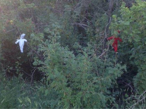 Куклы вуду на месте аварии