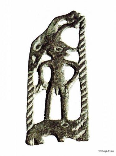 Загадочные пермские люди-лоси, идущие по ящеру