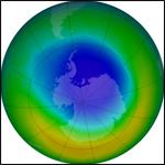 Антарктическая озоновая дыра достигла максимального размера