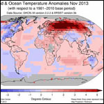 Ноябрь 2013 года признали самым теплым за всю историю наблюдений