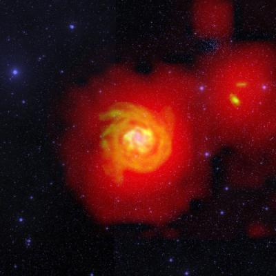 Некоторые спиральные галактики крадут газ у соседей
