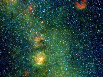 В Тройной туманности засняли облако рождающихся звезд