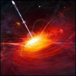 Ярчайший космический маяк, питаемый гигантской черной дырой