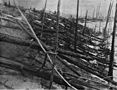 Тунгусский метеорит - упал снизу