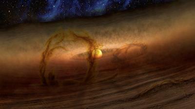 Магнитные поля могут делать протопланетные диски «ворсистыми»