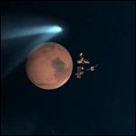 Древняя комета пролетела вблизи Марса