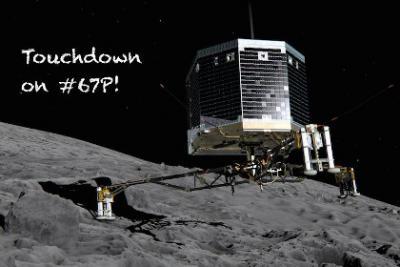 Зонд Philae передал первый снимок с поверхности кометы