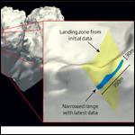 Ученые ограничили область поисков зонда Philae на комете