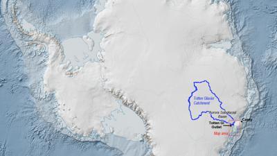 Таяние антарктического ледника создало риск глобального катаклизма