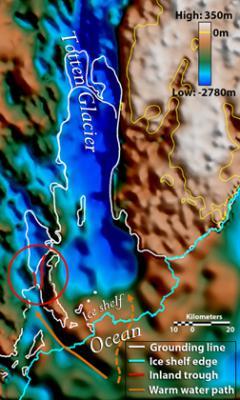 Таяние антарктического ледника создало кризис глобального катаклизма