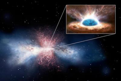 Ученые впервые наблюдали обеднение галактик за черных дыр