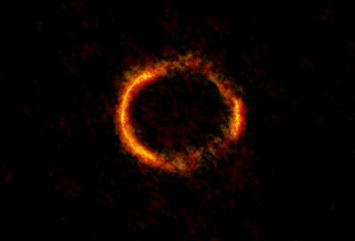 Астрофизики разглядели перстень Эйнштейна от зеленый галактики