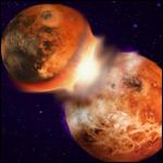 Подтверждена учение возникновения Луны за столкновения Земли с планетой Тейя