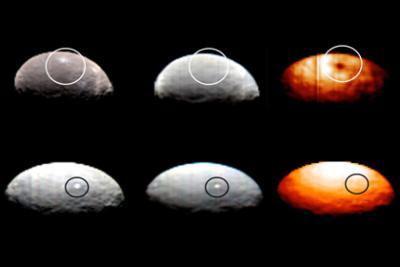 Получены первые цветные снимки карликовой планеты Церера