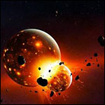 Земля столкнулась с другой планетой 4,5 млрд лет назад