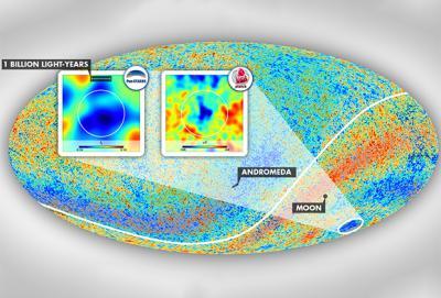 Ученые обнаружили область Вселенной без звезд и галактик