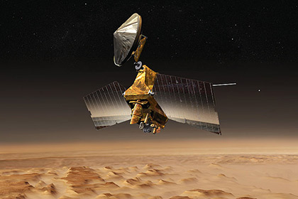 Орбитальная станция НАСА сделала изображение путешествующего марсохода