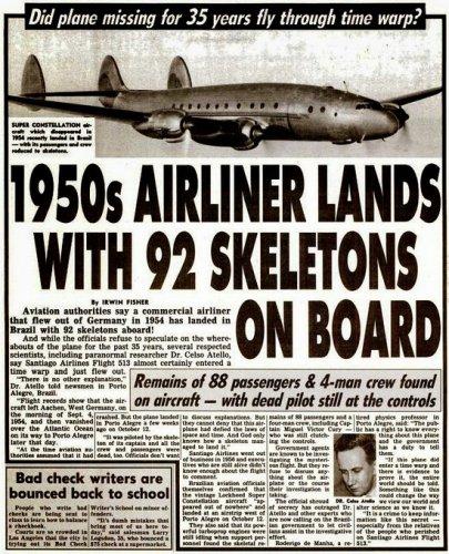 Самолет со скелетами приземлился в Бразильском аэропорту