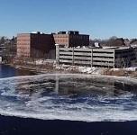 Гигантский вращающийся диск возник на реке в США